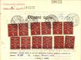 Kolkové listiny – známky (1919)